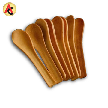 Edible spoon made of flour. rice and wheat