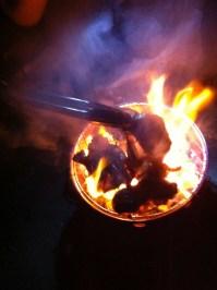 一気呵成に焼くが、火が強過ぎたかもしれない