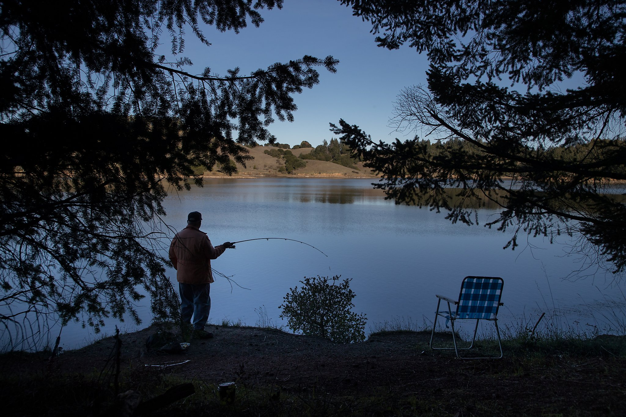 fishing chair rain cover how to install a hanging hammock weekend fills and tops off bay area lakes