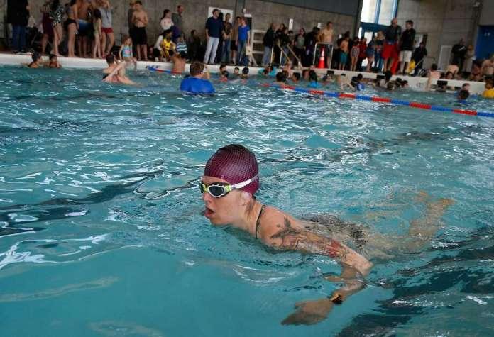Hadar Aviran swam last year in the pool at Balboa Park. Photo: Paul Chinn / The Chronicle 2019