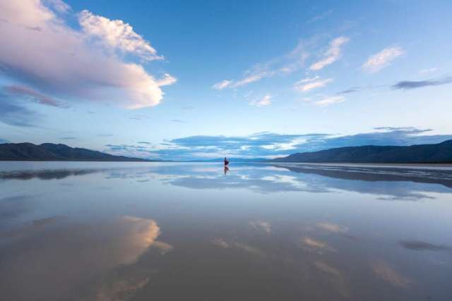Reno-based professional photographerJustin Majeczky captured images in June 2019 of an unusually large body of water stretched across Nevada's Black Rock Desert. Quinn Lake forms every year after heavy rains, but in 2019 after a wet winter, it spilled its banks and spread across the desert Playa. Photo: Justin Majeczky | Justinmajeczky.com
