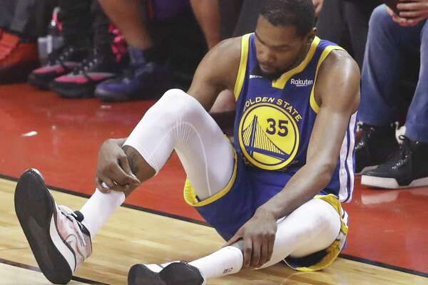 Warriors' Kevin Durant exits Game 5 of NBA Finals with Achilles injury - SFChronicle.com