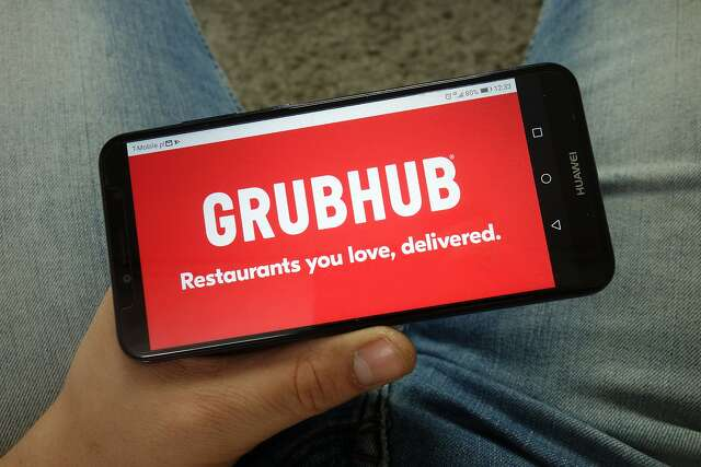 Grubhub's app and websites showed a well-known San Francisco restaurant which doesn't even do delivery.