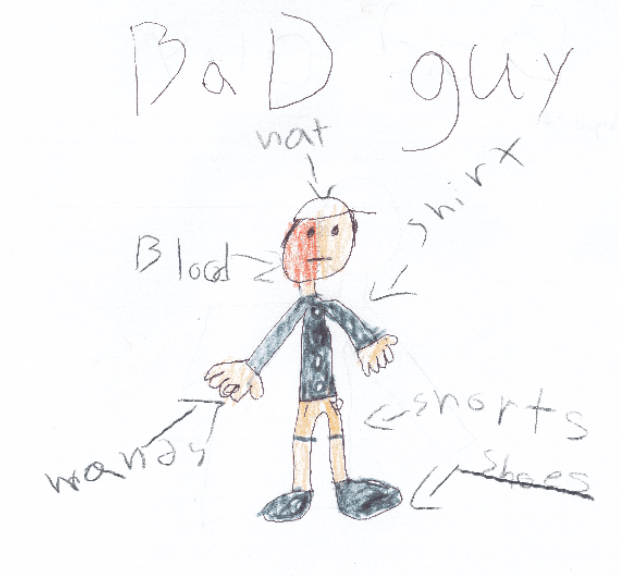 Children draw pictures of 'bad guy' in effort to help