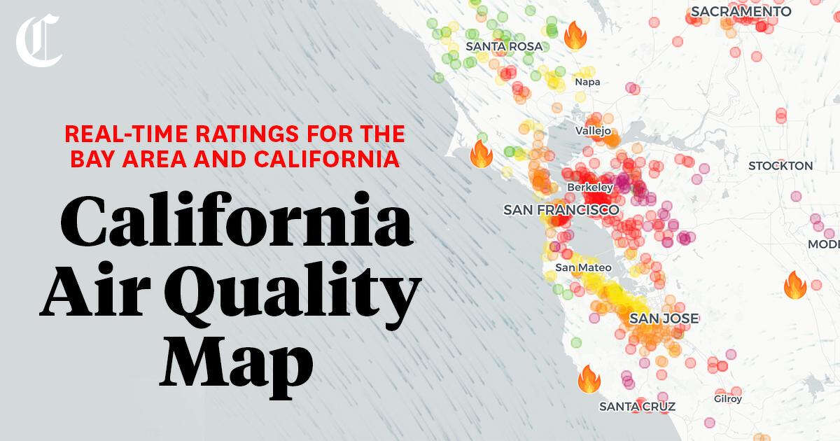 Map Air Quality Near Me In The San Francisco Bay Area