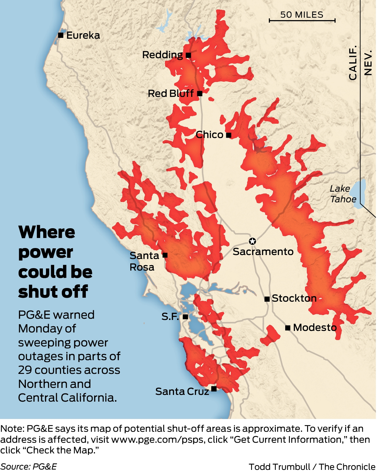 Pge Outage Map : outage, Releases, California, Cities,, Counties, Power, Shut-off, Watch:, Here's