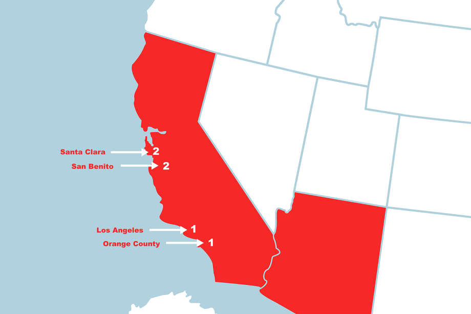 Map: Where 11 cases of coronavirus are confirmed in the US - SFGate