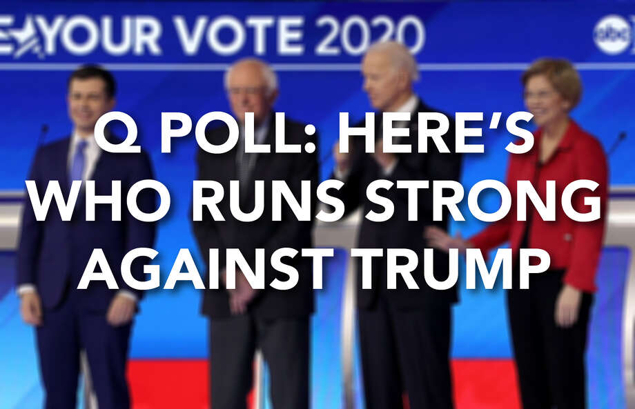 Among all registered voters, these Democratic candidates lead President Donald Trump in general election matchups by between 4 and 9 percentage points, according to a February 2020 Q Poll. Photo: Contributed