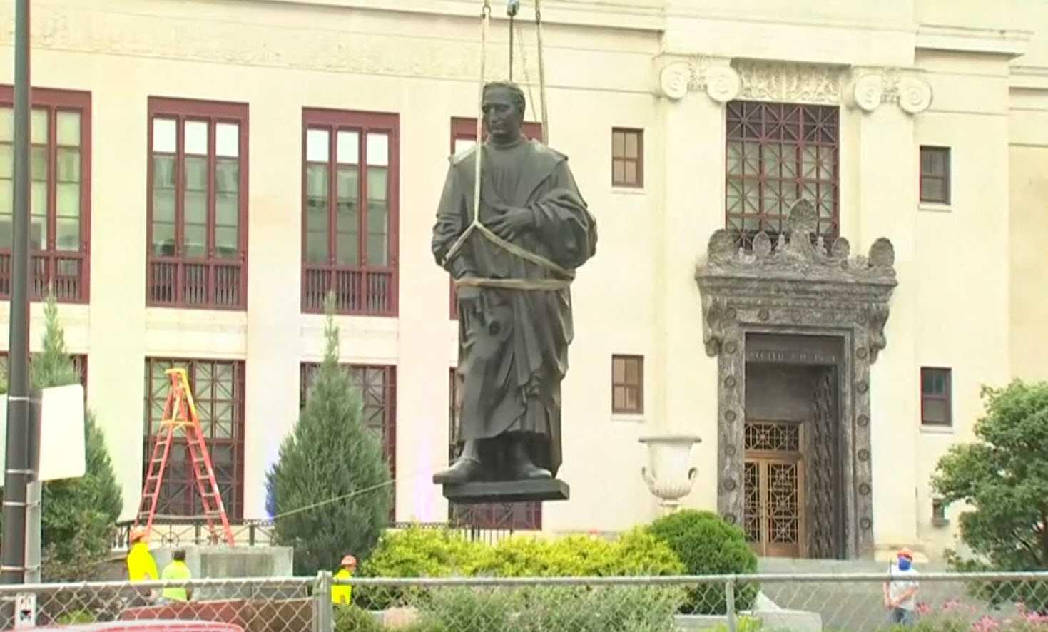 Ohio Capital Removes Statue Of Namesake Christopher