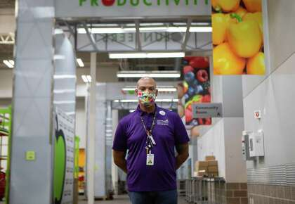 The Director of Volunteer Services at Houston Food Bank, Jermaine Harmon, said he appreciated the generosity of the volunteers who came to help despite the increasing number of coronavirus cases in Houston on Thursday, July 9, 2020.