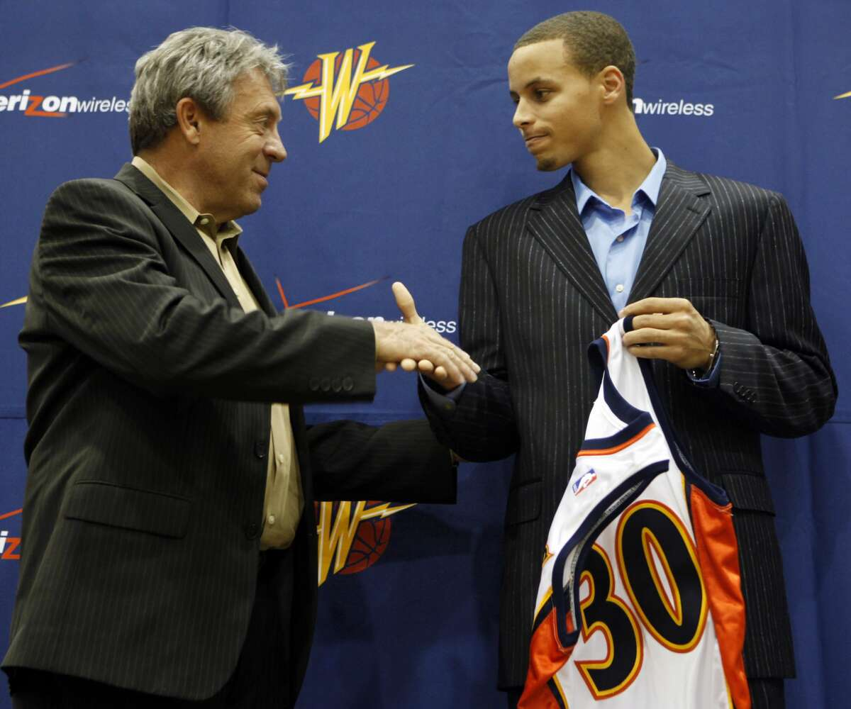 A special adviser offers good-luck tips to Warriors NBA Draft lottery rep Steph Curry