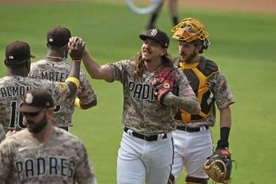 Giants snuffed by Clevinger, Padres in return from coronavirus-test postponements - SFChronicle.com