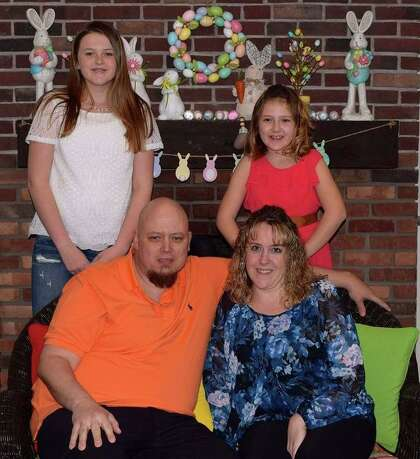 Henry Maikowski with his wife, Kiersten Terribile, and their daughters, Alyssa, left, and Amber.