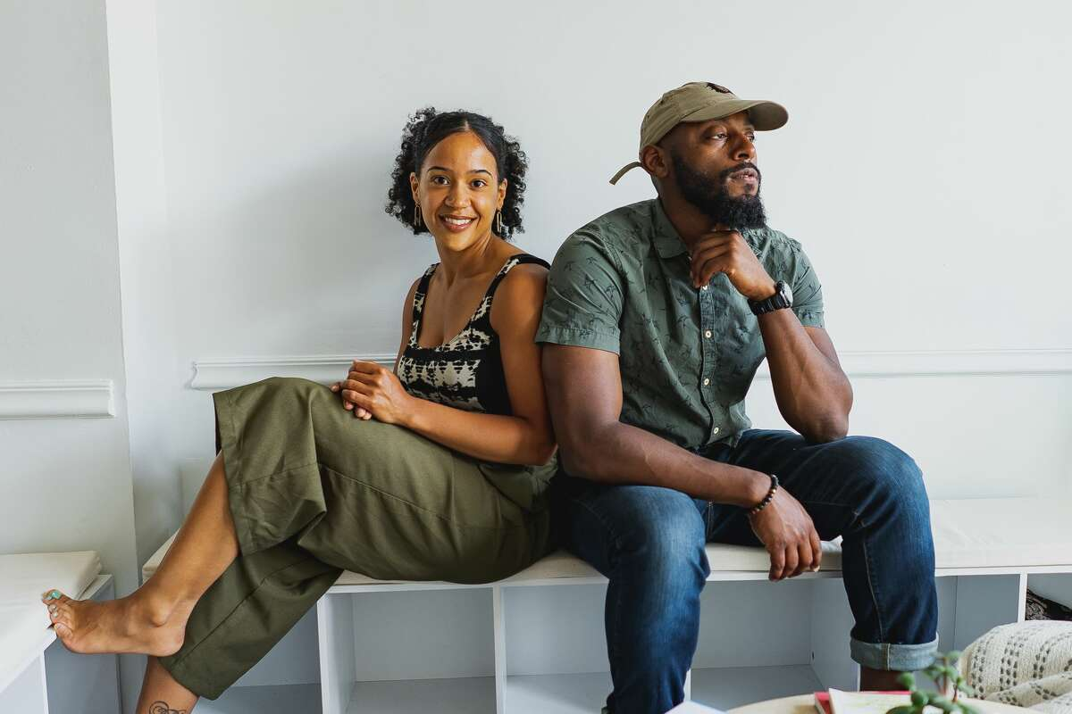 Root3d co-founders Rachelle Pean and Jamel Mosely in the wellness center on South Pearl Street in Albany. (Photo by Kiki Vassilakis.)