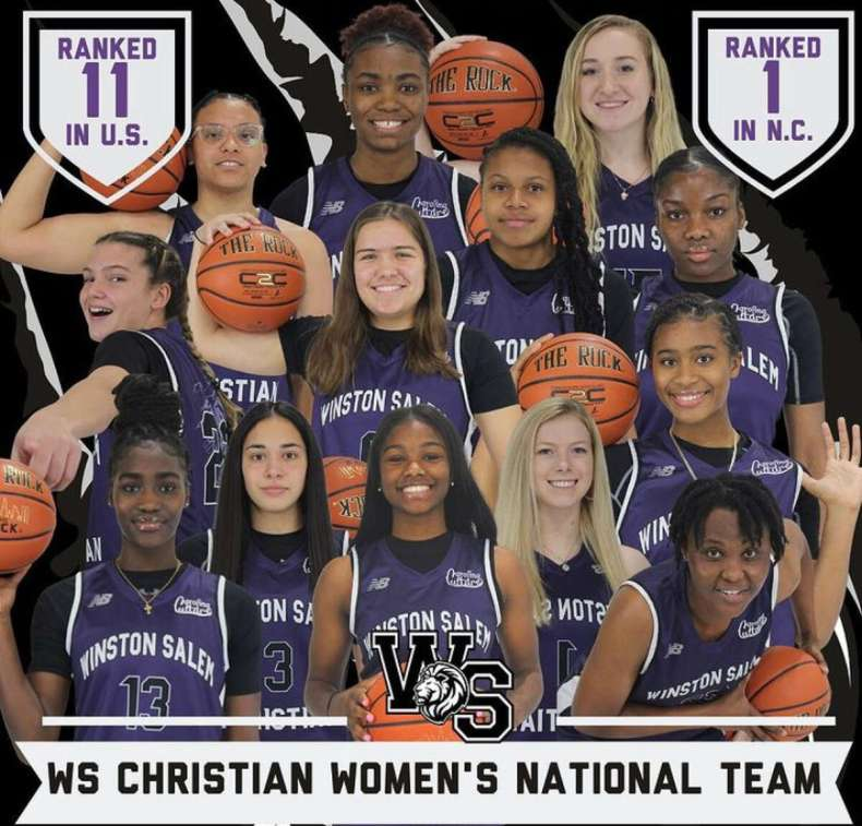 Avery Mills in a team picture of the Winston-Salem Christian team.