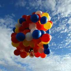 Chair With Balloons Cover Rentals Honolulu Man Takes Flight In Lawn Lifted By Houston Chronicle Kent Couch Leaves His Gas Station Bend Ore On Saturday Riding A