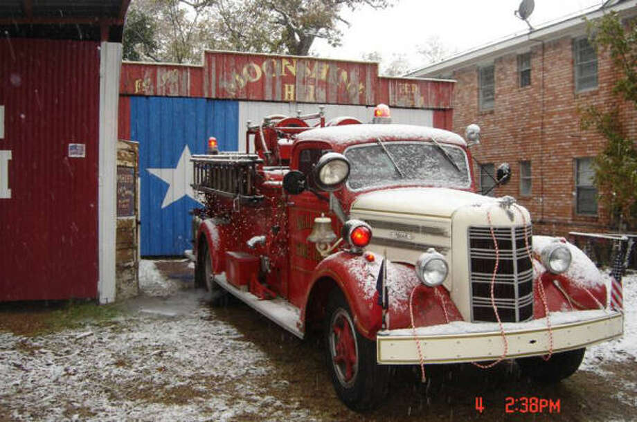 The vintage fire truck A Christmas parade staple