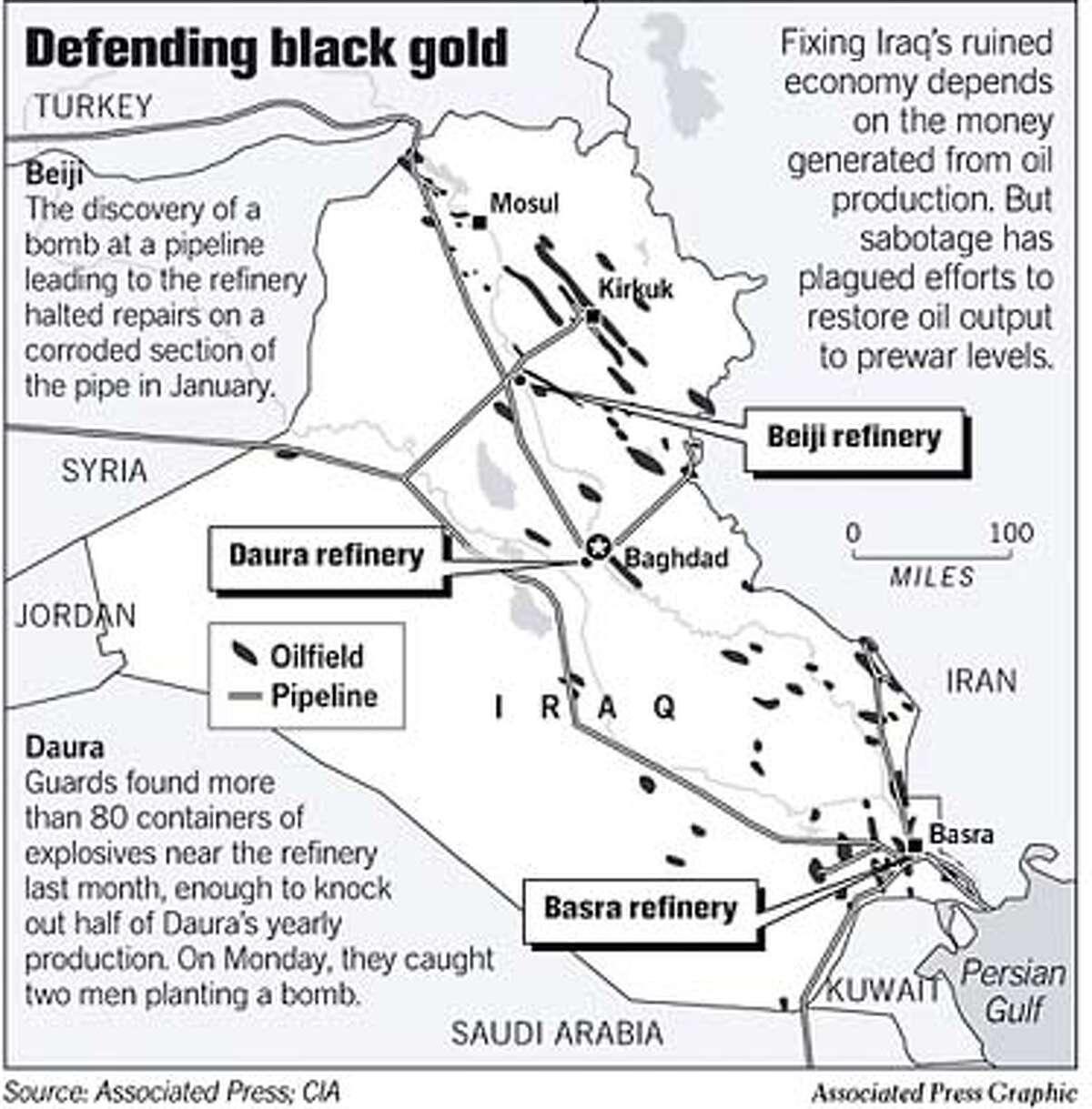 REBUILDING IRAQ / Workers get oil to near prewar