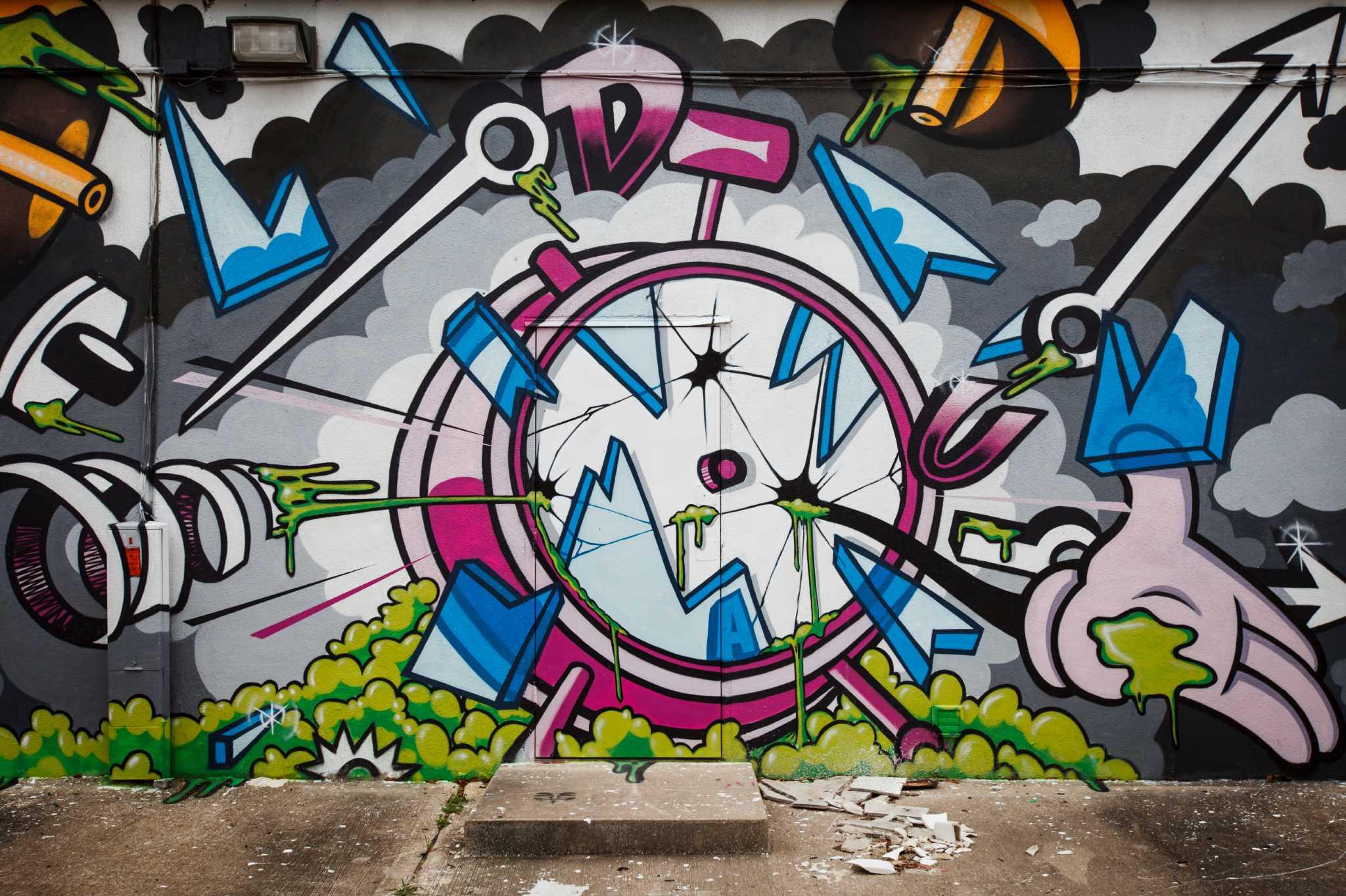 Popular Graffiti Style Art Spot The Mullet Asking For