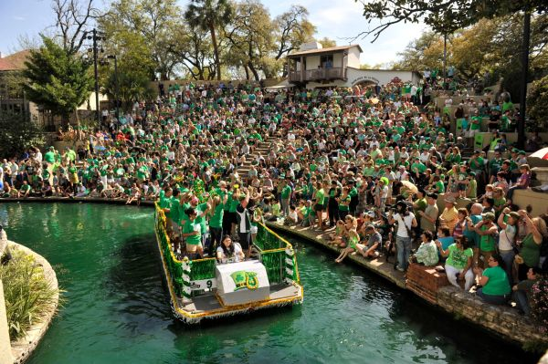 San Antonio River Walk St. Patrick's Day