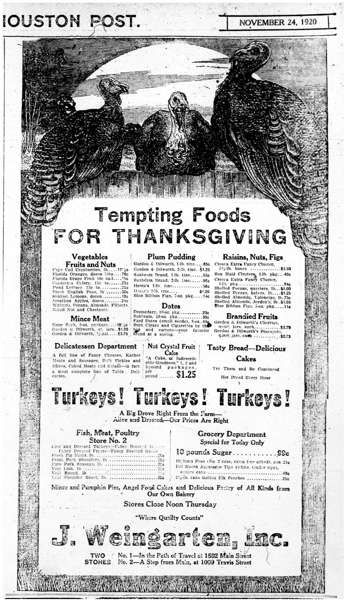 Thanksgiving grocery ads from Houstons past  HoustonChroniclecom