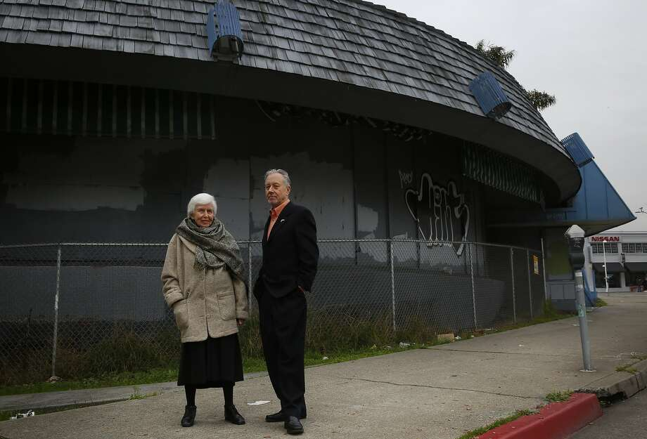 Architects Joyce Roy and Leal Royce Charonnat stand in front of closed Biff's Diner, the building they are trying to save Jan. 8, 2015 in Oakland, Calif. Photo: Leah Millis, The Chronicle