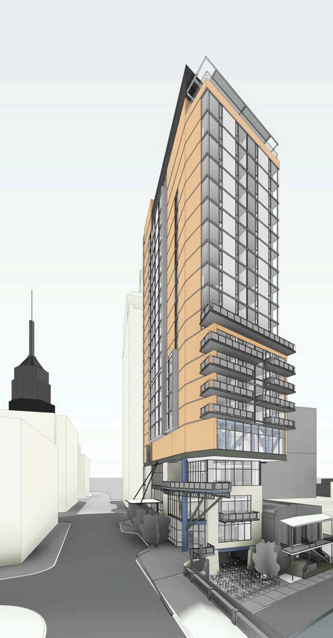 developers plan boutique hilton hotel downtown