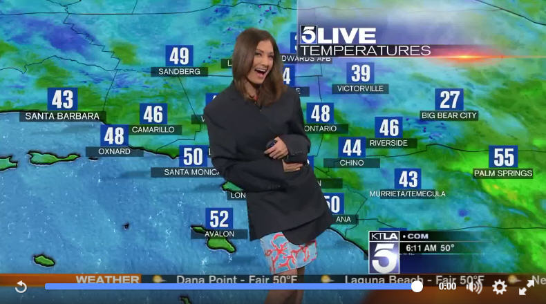 Girl Falling Through The Air Wallpaper Meteorologist Suffers Hilarious Wardrobe Malfunction