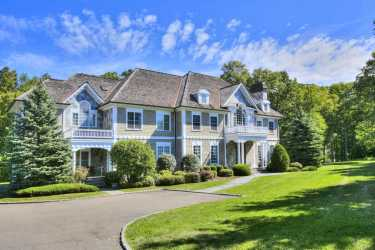 private mansion modern colonial stone market wood circle grounds tennis fairfield enclave merry ridge located meet
