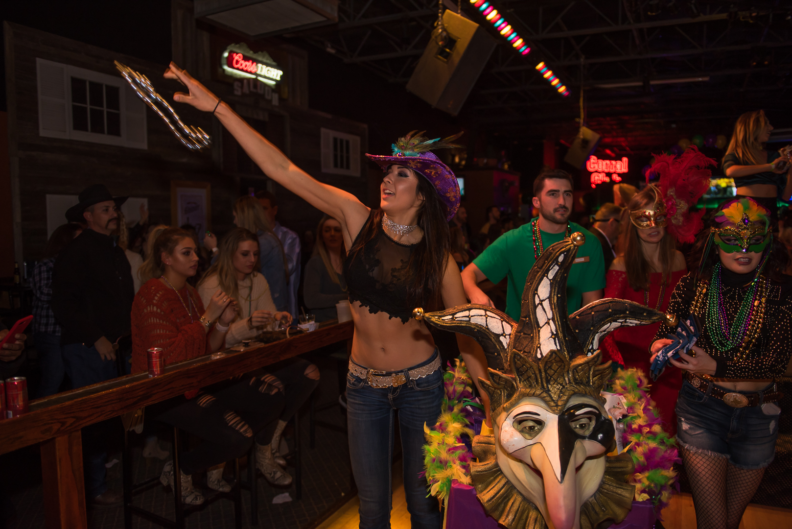 Photos Wild West Was Packed For Mardi Gras Celebrations