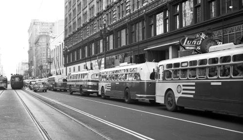 small resolution of as wires crossed in 1949 muni championed electric bus future