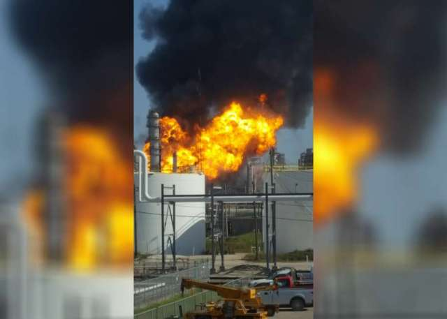 A Large Fire Broke Out Thursday Afternoon At A Texas City Plant Photo Michael