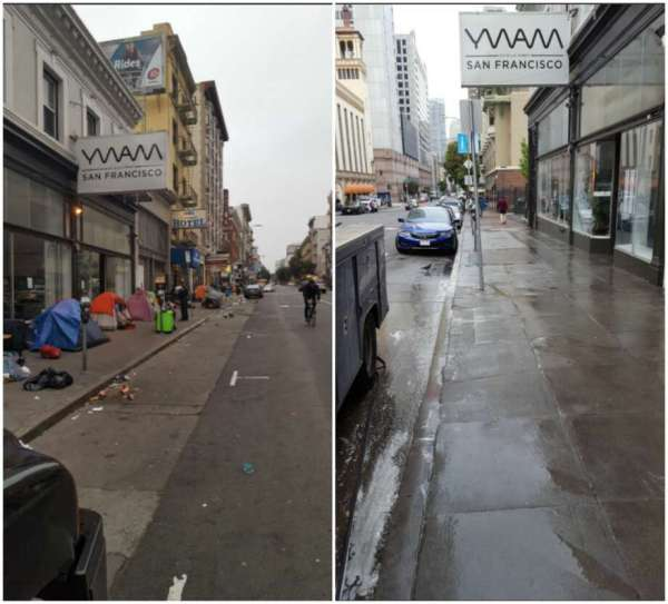 Sfpd Faces Twitter Backlash 'tackling' Tent-filled