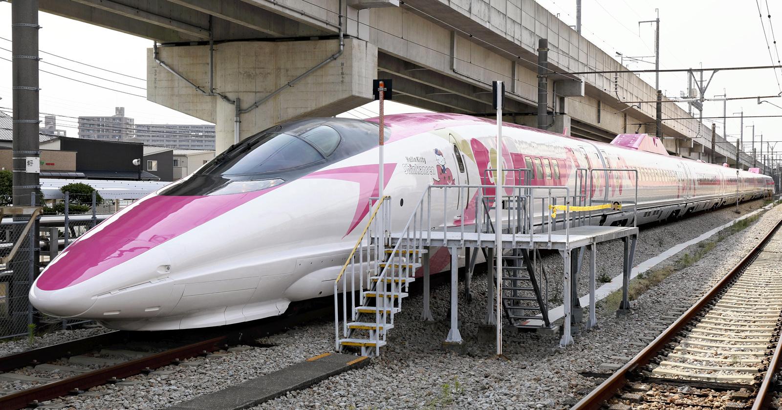 Hello Kitty Shinkansen Bullet Train Unveiled Ahead Of