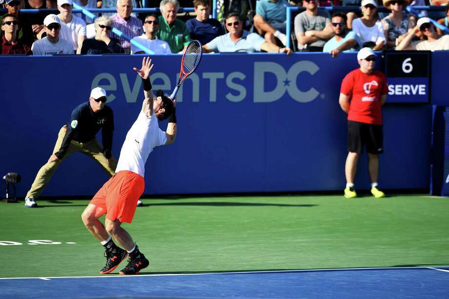 tennis umpire chair hire childrens chairs ikea for citi open players new serve clock is about time the was usta event in which a used main