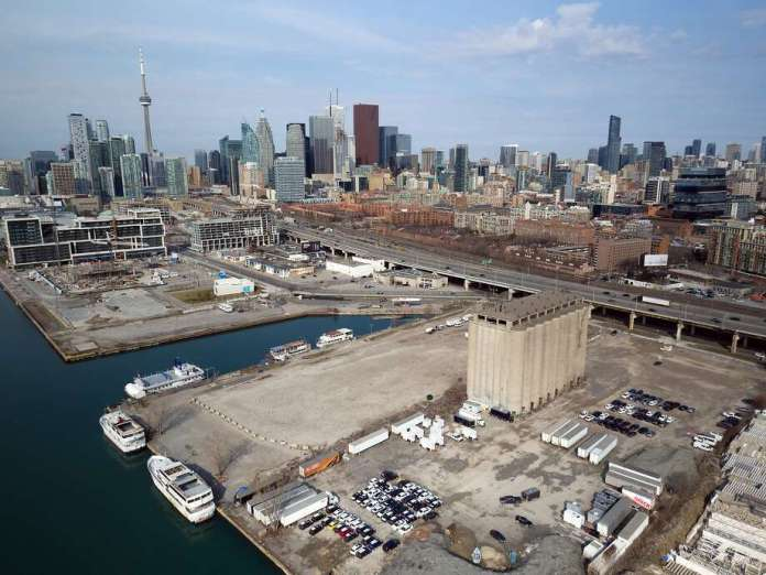 The site on the eastern waterfront of Toronto is envisioned as an 800-acre development by Sidewalk Labs and Waterfront Toronto. Photo: Sidewalk Toronto