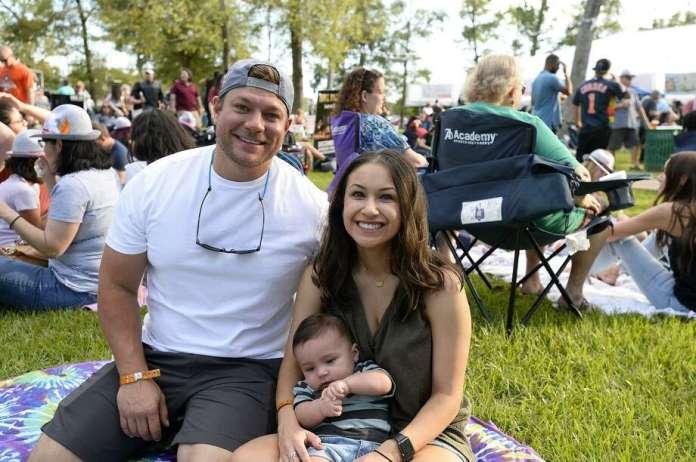 Reed and Alena Nilles with baby Rylan at Oktoberfest at Rogers Park on Saturday. Photo taken Saturday 10/13/18Ryan Pelham/The Enterprise Photo: Ryan Pelham / The Enterprise / ©2018 The Beaumont Enterprise