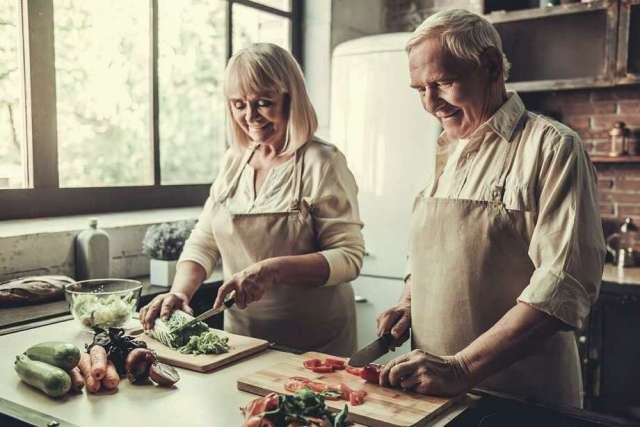 A healthy diet can help ward off heart problems, high blood pressure and other problems.