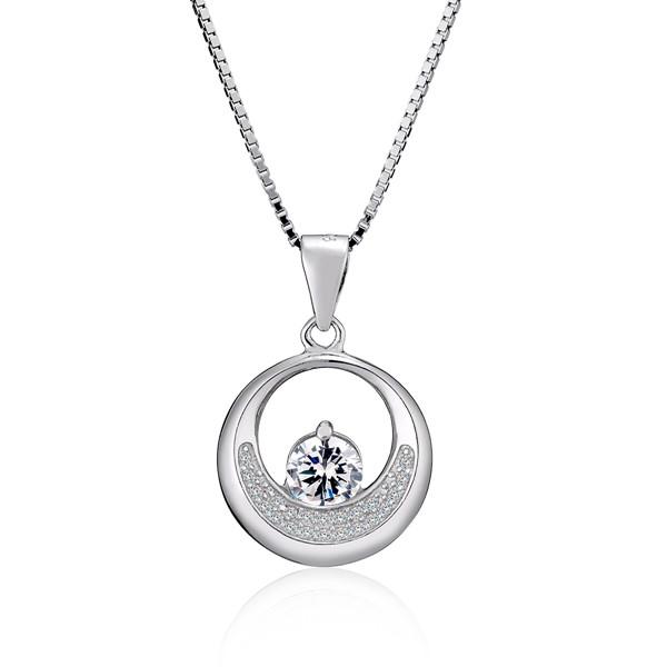 環狀內鑽時尚 純銀 女款項鍊飾品|IR,IDEA ROCK