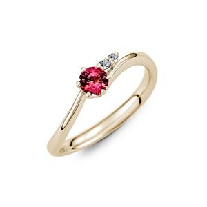 彩色寶石戒指、30分寶石(沙佛萊﹑藍寶石、粉紅藍寶、紅寶石)戒指|IR、IDEA ROCK