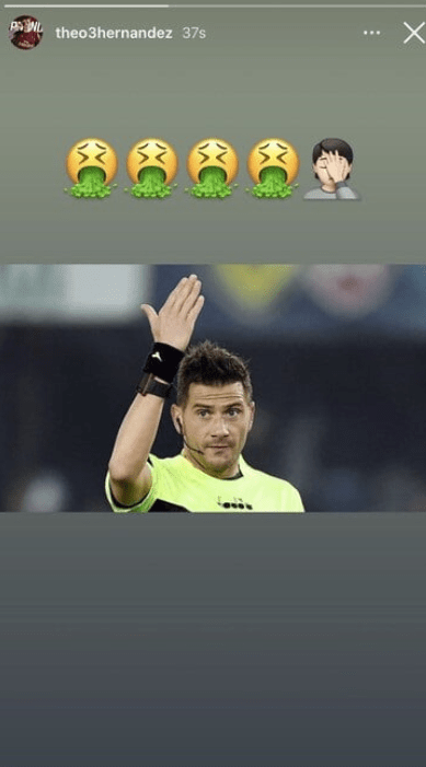 Theo Hernandez may be disqualified for criticizing the judge