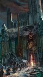 Sky Ruins Dark Fantasy Cathedral Capital City Wallpaper Fantasy Art City Elemental #1906052 HD Wallpaper & Backgrounds Download