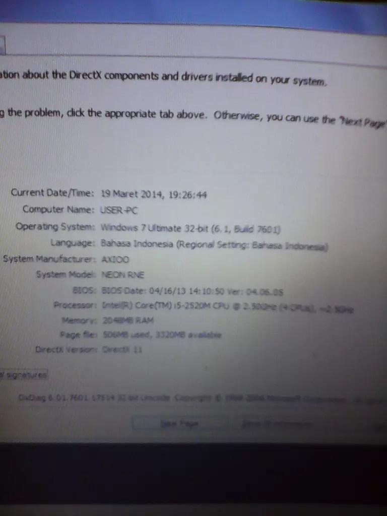 Axioo Neon Rne Driver : axioo, driver, Terjual, AXIOO, INTEL, 2.5Ghz, Baterai, KASKUS