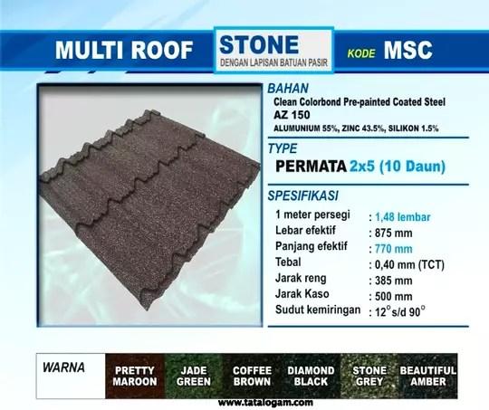 jarak reng baja ringan atap multiroof terjual daftar harga genteng metal sakura surya roof