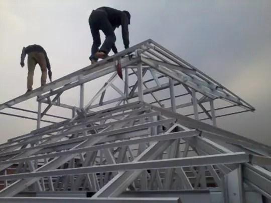 pemasangan baja ringan di cikarang terjual canopy murah berkualitas kaskus