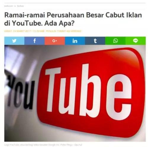Perusahaan Besar Cabut Iklan di Youtube, Akhir dari Youtube dan Youtuber?
