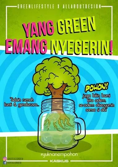Pengumuman Pemenang Kompetisi Design E Poster Go Green Kaskus