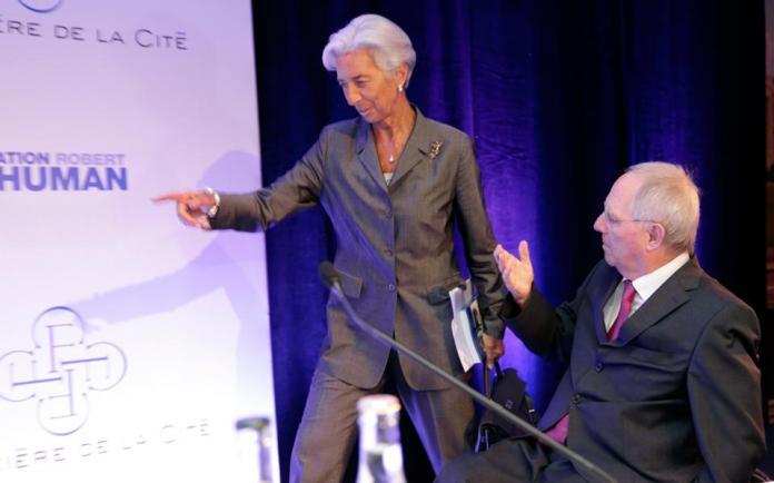 Oι πρωταγωνιστές της παρασκηνιακής διαπραγμάτευσης στην Ουάσιγκτον, στις 21-23 Απριλίου, θα είναι κυρίως η επικεφαλής του ΔΝΤ Κριστίν Λαγκάρντ και ο Γερμανός υπουργός Οικονομικών, Βόλφγκανγκ Σόιμπλε.