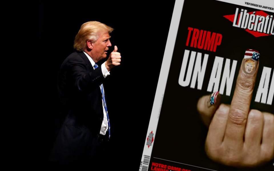 Το αιχμηρό πρωτοσέλιδο της Liberation για τον 1 χρόνο προεδρίας του Τραμπ | ΠΟΛΙΤΙΚΗ