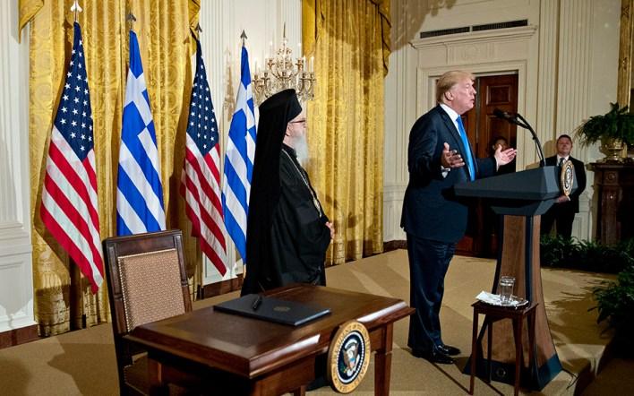 O Τραμπ τιμά την 25η Μαρτίου στον Λευκό Οίκο